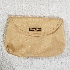 Oscar de la Renta small cream makeup bag